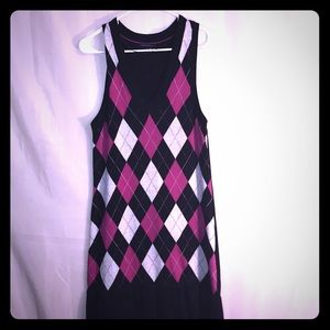 Tommy Hilfiger Argyle Sweater Dress